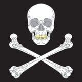 海盗标志黑色 库存图片