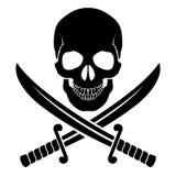 海盗标志 库存图片