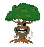 海盗树动画片 库存照片