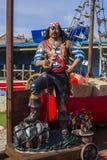 海盗海边吸引力, Withernsea,英国 免版税库存图片