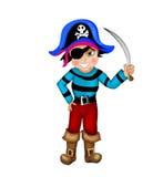 海盗男孩 免版税库存照片