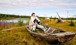 海盗的钝汉 库存图片