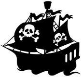 海盗船剪影 免版税库存照片