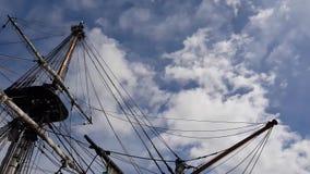 海盗船的停泊 股票视频