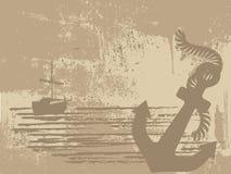 海盗船的剪影 免版税库存照片