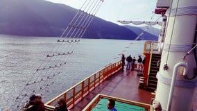 从海盗船的湖视图 库存图片