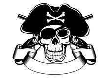 海盗行为头骨 向量例证