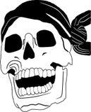 海盗行为头骨 库存图片