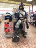 海盗雕象, Kenly 95卡车停留站, Kenly, NC 库存照片