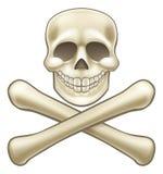 海盗骷髅图万圣夜动画片 库存照片
