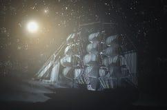 海盗鬼魂船 图库摄影