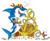 海盗鲨鱼 免版税图库摄影