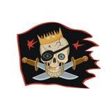 海盗黑旗的国王 免版税图库摄影
