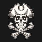 海盗头骨 免版税库存照片