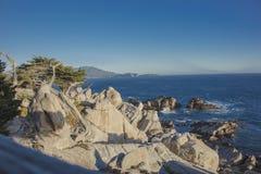海看法从Pescadero点加利福尼亚的 库存图片