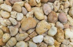 海石头在游泳民意测验背景中 免版税图库摄影