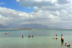 死海矿物-以色列 库存图片