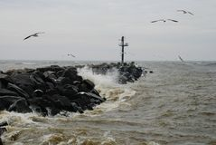 海码头 免版税图库摄影