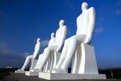 海纪念碑的人 库存图片