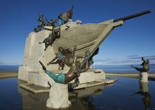 海纪念碑,蓬塔阿雷纳斯,智利 库存照片