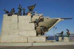 海纪念碑,蓬塔阿雷纳斯,智利 免版税库存图片