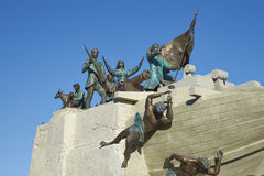 海纪念碑,蓬塔阿雷纳斯,智利 免版税库存照片