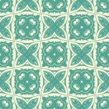 海绿色环绕了正方形设计无缝的样式背景例证 向量例证