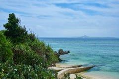 海美好的场面在冲绳岛 库存照片