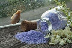 海腌制槽用食盐 淡紫色气味 库存图片