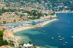 滨海自由城(彻特d'Azur) 库存照片