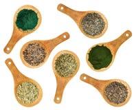 海草和海藻营养补充 库存照片