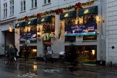 海蒂` s啤酒酒吧在哥本哈根,丹麦 图库摄影