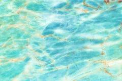 海蓝色大理石大理石仿造了纹理背景,从自然的详细的真正大理石 库存图片