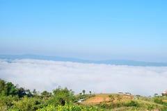 海薄雾,雾海从北泰国的 库存图片
