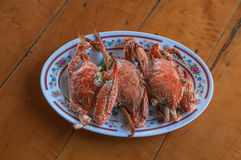 海螃蟹蒸汽 库存照片