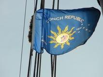 海螺共和国旗子,基韦斯特岛 图库摄影