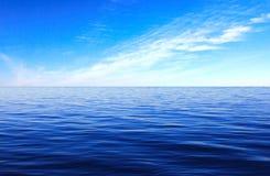 海表面云彩天空 库存照片
