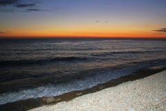 海衰落在索契 库存照片