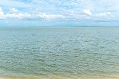 海视图、天空和风 库存图片
