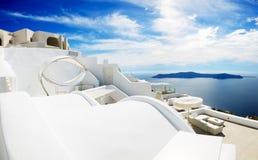 海视图吊床在豪华旅馆 免版税库存照片
