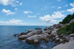 海视图在一热的天 免版税图库摄影