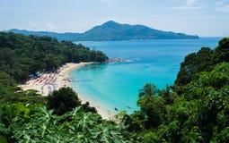 海视图夏天普吉岛泰国 免版税库存照片