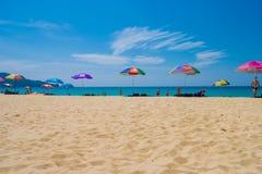 海视图夏天普吉岛泰国 库存照片