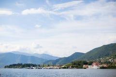 海视图,风景在黑山 免版税图库摄影