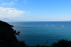 海视图- Carbis海湾-英国 库存照片