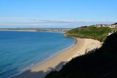 海视图- Carbis海湾-英国 免版税图库摄影
