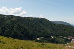 海角不列塔尼的地平线足迹视图 库存图片