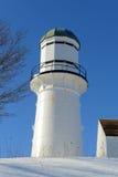 海角伊丽莎白灯塔,缅因 库存照片