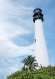 海角位于Key Biscayne的佛罗里达灯塔 免版税库存图片