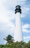 海角位于Key Biscayne的佛罗里达灯塔 库存照片